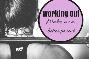 woman back squatting barbell: working out makes me a better parent
