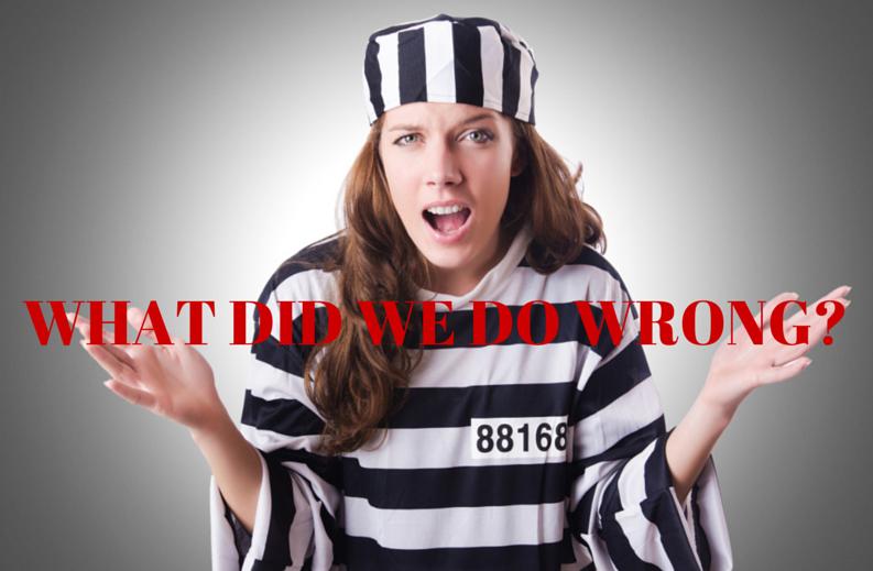 woman in jail uniform