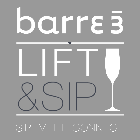 barre3 lift and sip graphic