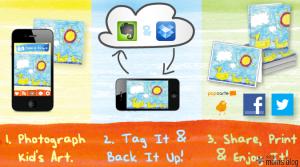 phone, upload graphic, kids made art