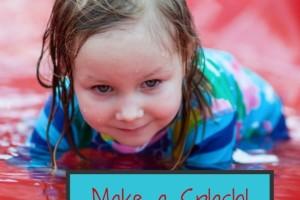girl on splash pad: make a splash