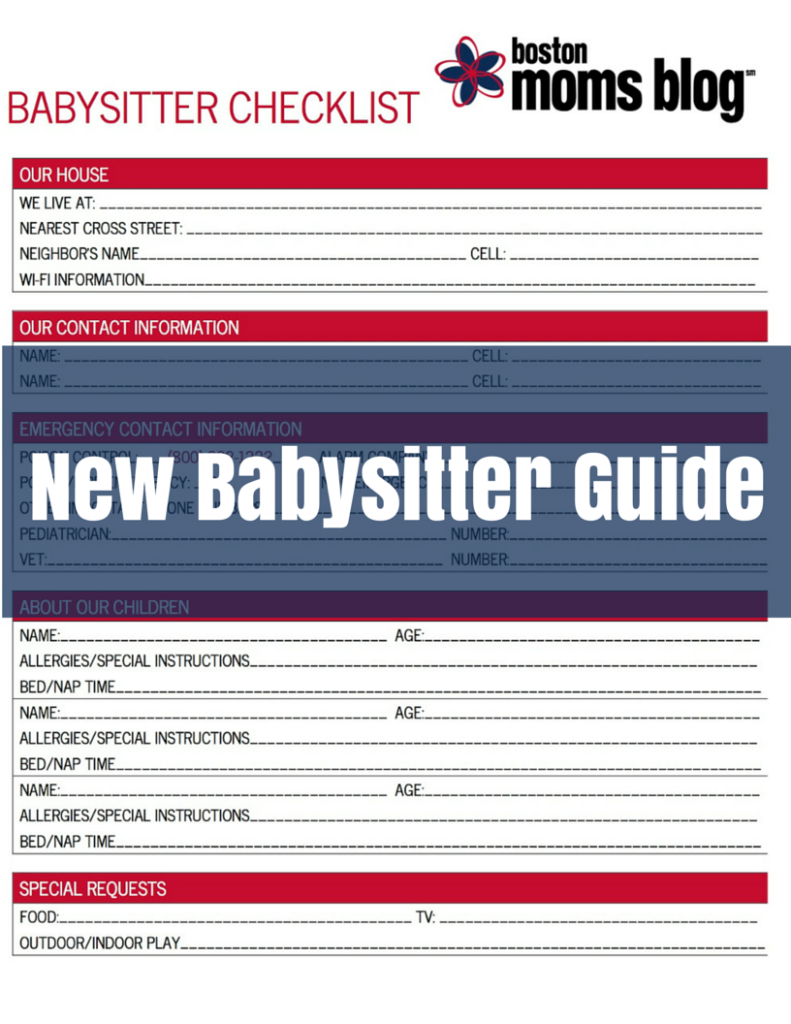 babysitter instructions