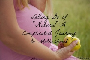 pregnant woman holding apple: letting go of natural: A complicated journey to motherhood