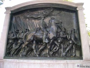 Robert Gould Shaw and the 54th Regiment Sculpture: a tribute memorial to the first African American men who fought in the Civil War