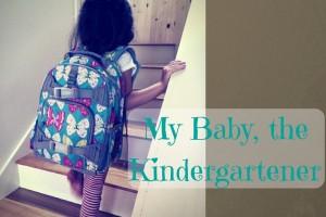 girl walking up stairs; my baby, the kindergartener