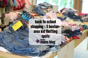 kids clothes at the flea market