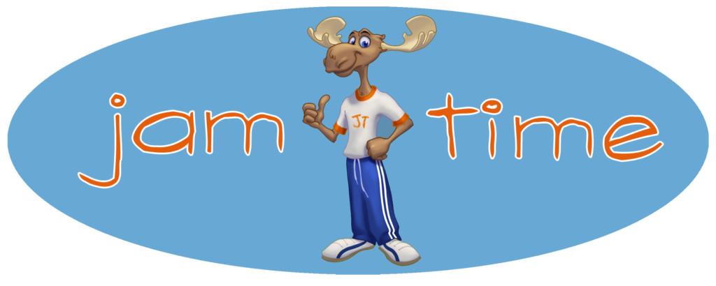 jam time logo with moose