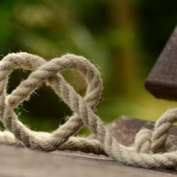 rope formed into a heart