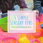 5 Simple Sensory Bins