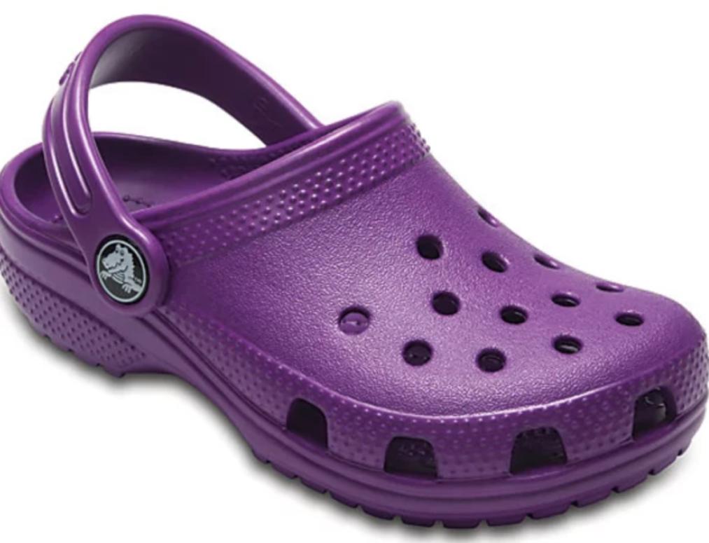 purple crocs - Boston Moms Blog