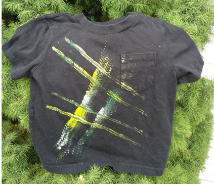 Toy truck painted t-shirt