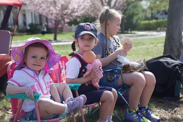 Children Spectating Boston Marathon
