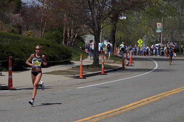 Leader female Boston Marathon