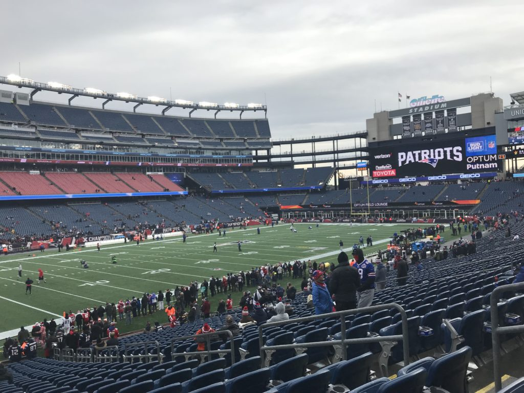 Gillette Stadium during a New England Patriots Game