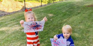straw fireworks painting - Boston Moms