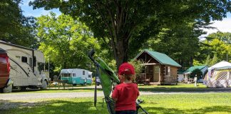 family camping working - Boston Moms