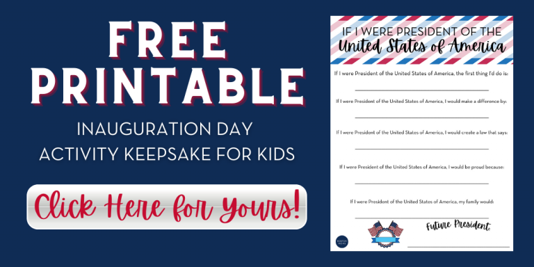{Free Printable} Inauguration Day Activity For Kids!
