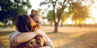post-pandemic life hug - Boston Moms
