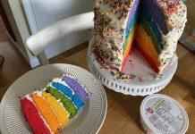 pride rainbow cake - Boston Moms