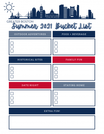 Bucket List 2021